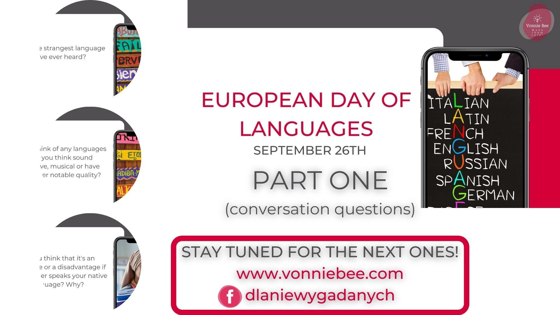 EUROPEAN DAY OF LANGUAGES – PART I
